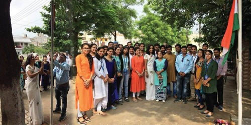 Independence day celebrated at sjain office